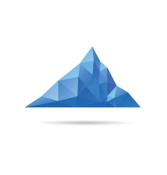 Low poly mountain design vector