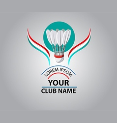 Badminton club logo vector