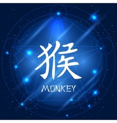 Chinese zodiac sign monkey vector