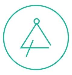 Triangle line icon vector