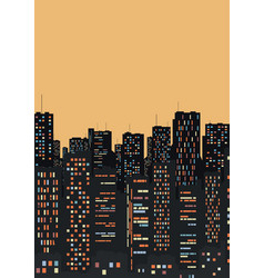 a large and beautiful city vector image vector image