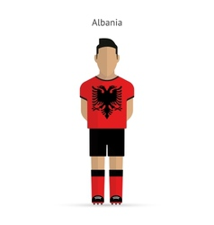 Albania football player soccer uniform vector
