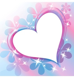 Beautiful Abstract Background with Heart vector image vector image