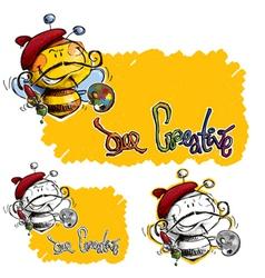 Bee Craetive vector image vector image