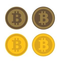 Bitcoin Icon Logo Set vector image vector image