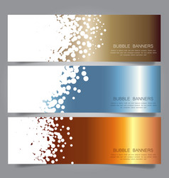 bubble design headers vector image vector image