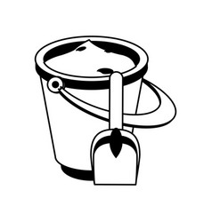 Bucket with sand icon image vector