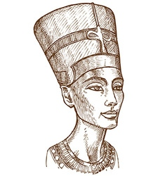 Bust of Nefertiti vector image vector image