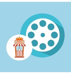Cinema movie ticket office film reel graphic vector