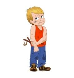 cunning little bully boy Boy vector image vector image