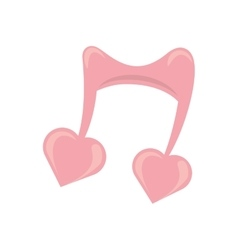 Cute musical note heart love symbol vector