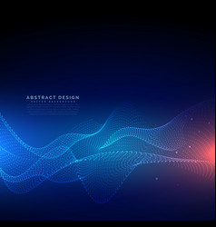 flowing particles technology digital cyber vector image vector image