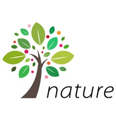 fruitful tree logo vector image vector image