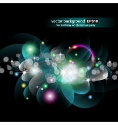 glowing circles vector image