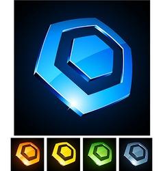Hexagonal vibrant emblems vector image