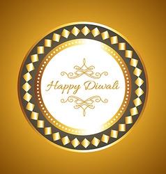 Hindu festival diwali card vector