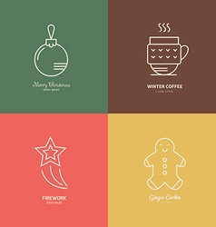 Holiday Logos vector image vector image