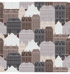 Houses seamless pattern vintage vector image