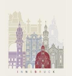 Innsbruck skyline poster vector