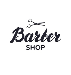 Logotype label badge for barbershop hair salon vector image