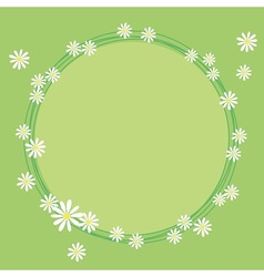 Lovely frame with flowers of camomile vector