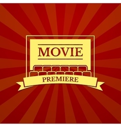Movie premiere typography vector image