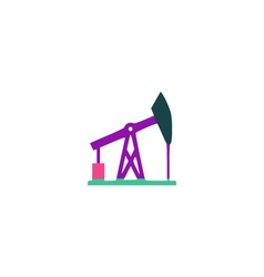 Oil derrick Icon vector image