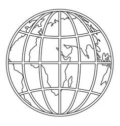 planet earth icon outline style vector image