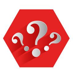 Question mark symbol icon vector