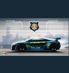 Realistic police car futuristic concept vector