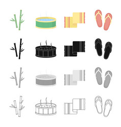 rest hygiene spa and other web icon in cartoon vector image vector image