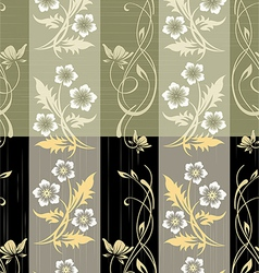 Seamless flower wall paper pattern vector image