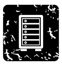 Security safe locker icon grunge style vector