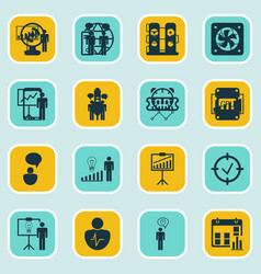 Set of 16 administration icons includes special vector