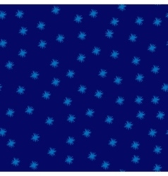 Star blue seamless pattern vector image vector image