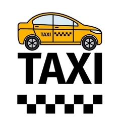 Taxicab transport advertising poster vector
