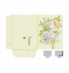 template for folder design vector image vector image