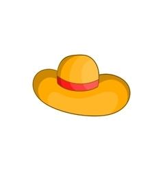 Womens beach hat icon cartoon style vector