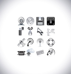 Web signal icons vector
