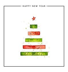 We wish you a merry christmas text on watercolor vector
