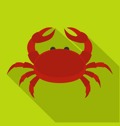 red crab icon flat style vector image