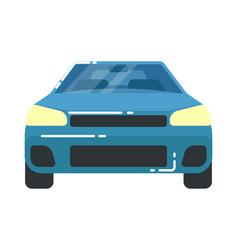 blue automobile icon in flat design vector image