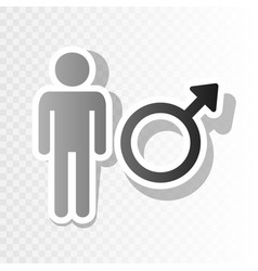 male sign new year blackish vector image