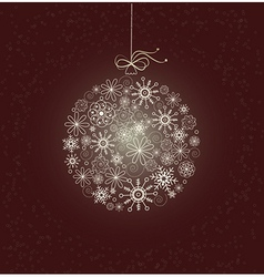 Christmas card with sparkling christmas bauble vector