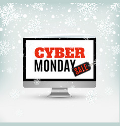 Cyber monday sale design abstract winter vector
