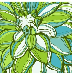 Abstract green flower petals use for stylish vector