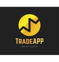 Abstract finance app logo template for vector