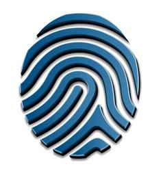 3d drawing fingerprint symbol vector