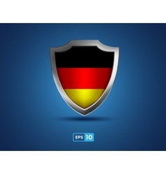 Germany shield on the blue background vector