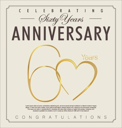 60 years Anniversary background vector image